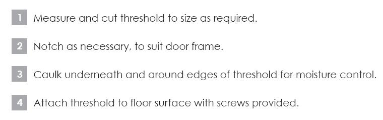Installation Instructions - Soundproof Threshold